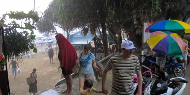 Unwetter Regenzeit Phuket